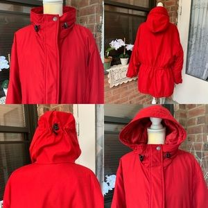 Cabela's Womens XL Winter Jacket Coat Hooded Red